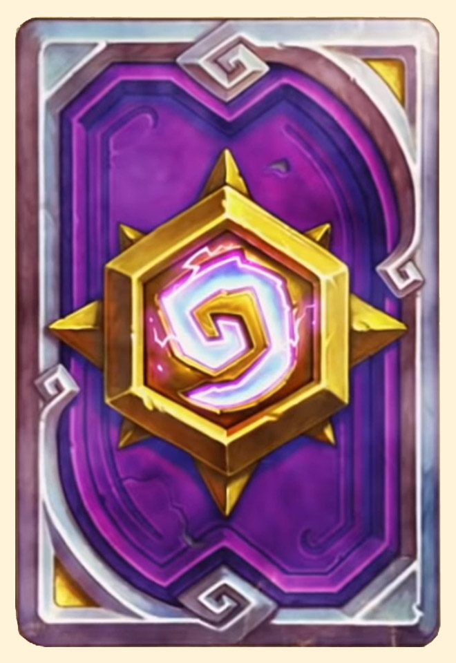 Dos de carte Hearthstone - HGG Cheer