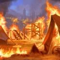 Carte Plaie des flammes