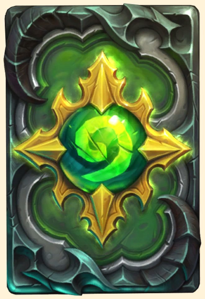 Dos de carte Hearthstone - Plans de la Légion