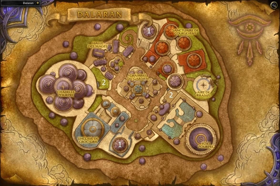 Carte de la cité de Dalaran