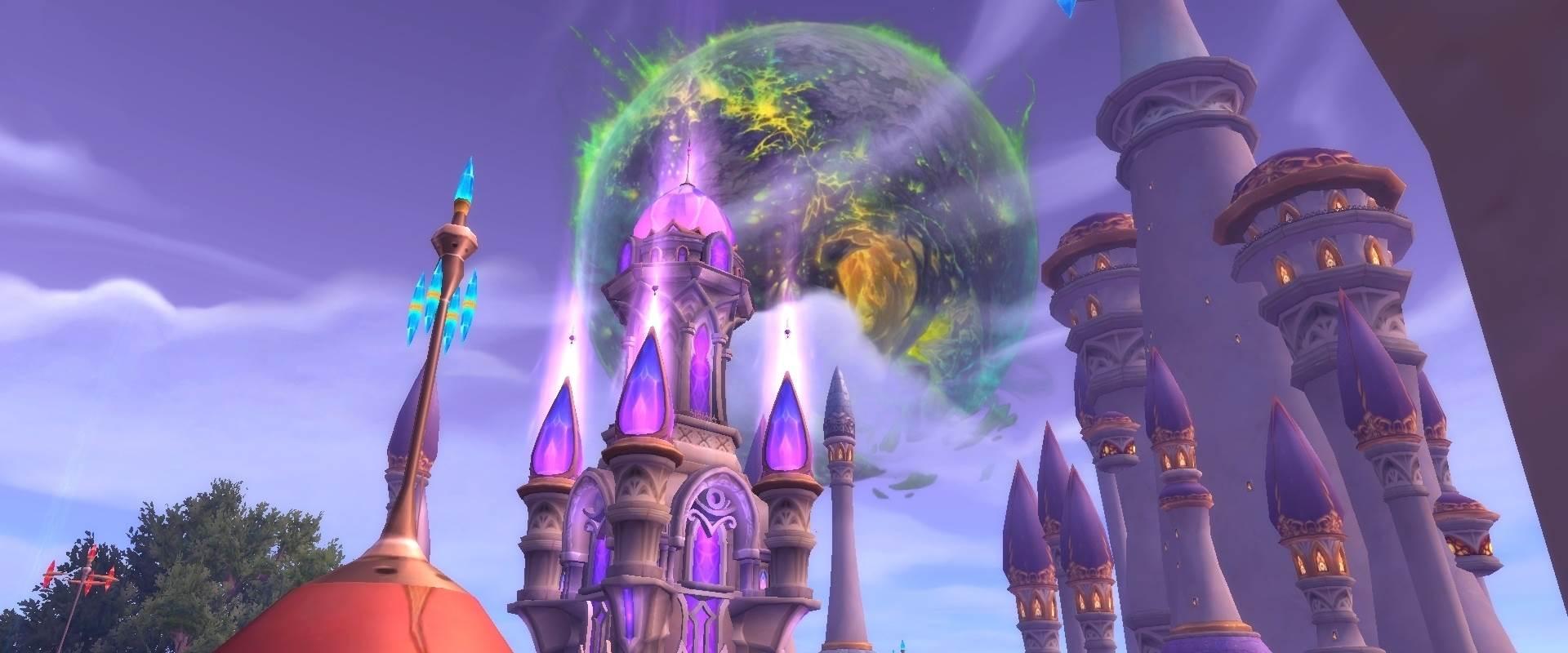 Argus est visible depuis Dalaran à travers l'immense portail