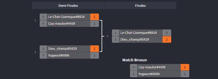 Le tournoi est maintenant terminé : Champi l'a remporté !