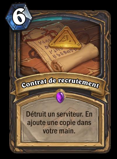 Contrat de recrutement