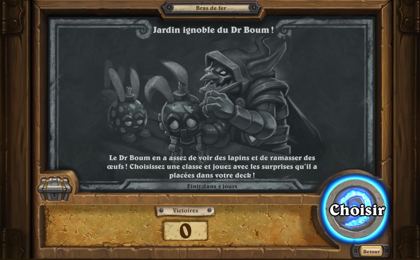 Bras de fer hebdomadaire : Jardin ignoble du Dr Boum !