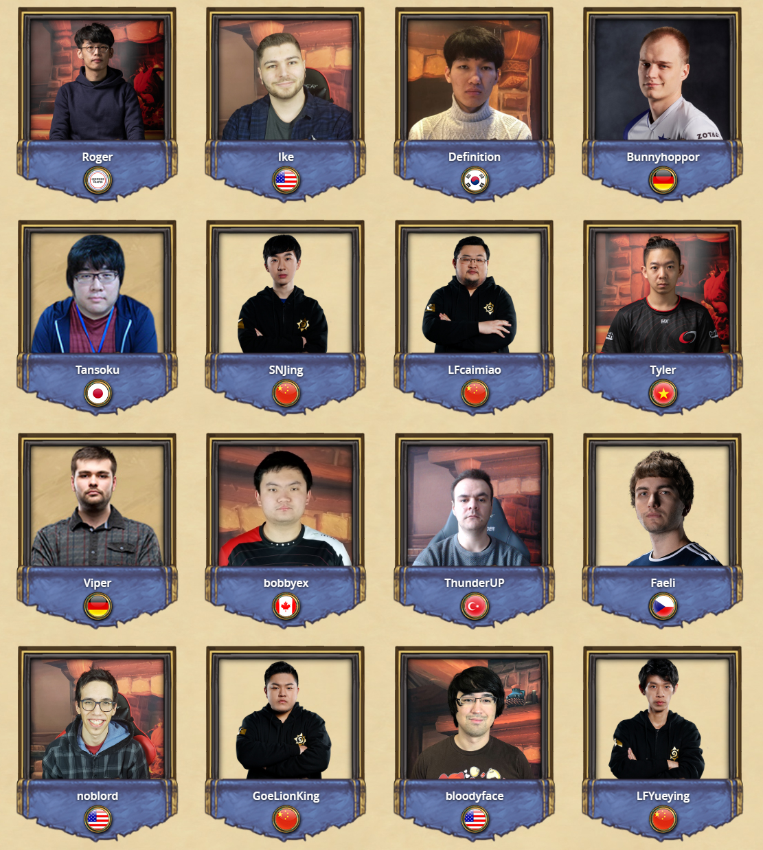Choisissez votre champion parmi 16 joueurs aux HCT Winter Championship 2019