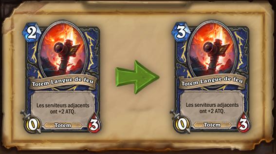 Le Totem Langue de feu passe à 3 cristaux de mana