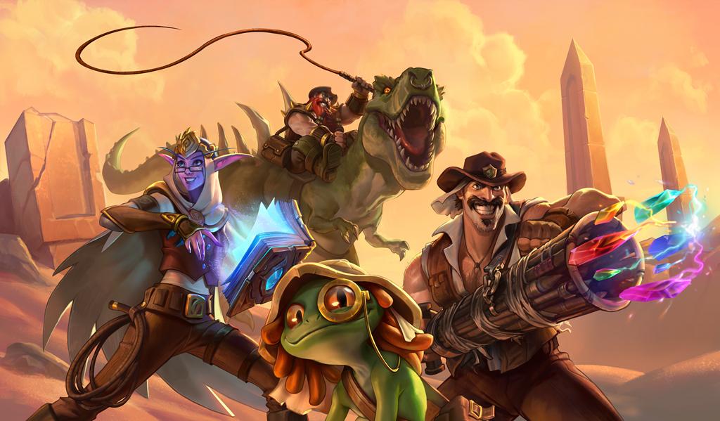 Les 4 héros d'Uldum de la Ligue des explorateurs