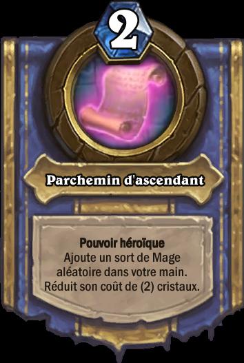 Carte Parchemin ascendant carte Hearthstone