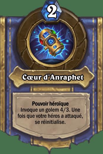 Coeur Anraphet- Pouvoir héroïque Hearthstone