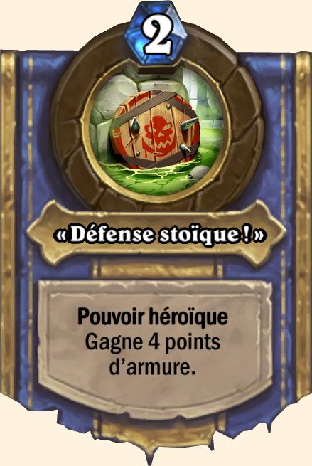 Pouvoir héroïque Défense stoïque