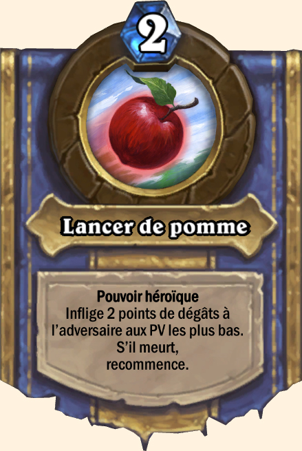 Pouvoir héroïque Lancer de pomme