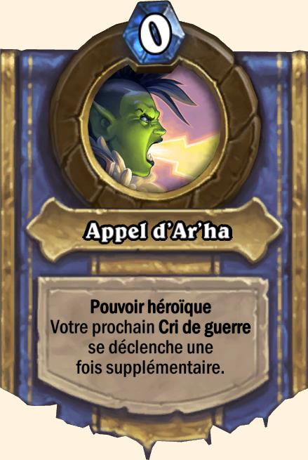 Pouvoir héroïque Appel d'Ar'ha