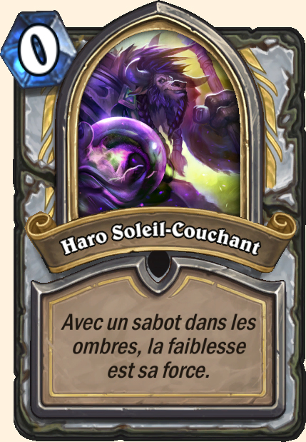 Boss Haro Soleil-Couchant - Hearthstone Casse du siècle