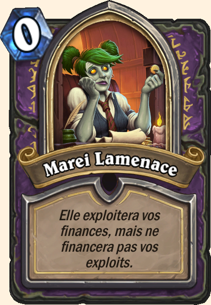 Boss Marei Lamenace - Hearthstone Casse du siècle