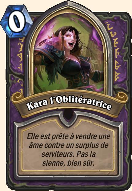 Boss Kara l'Oblitératrice - Hearthstone Casse du siècle