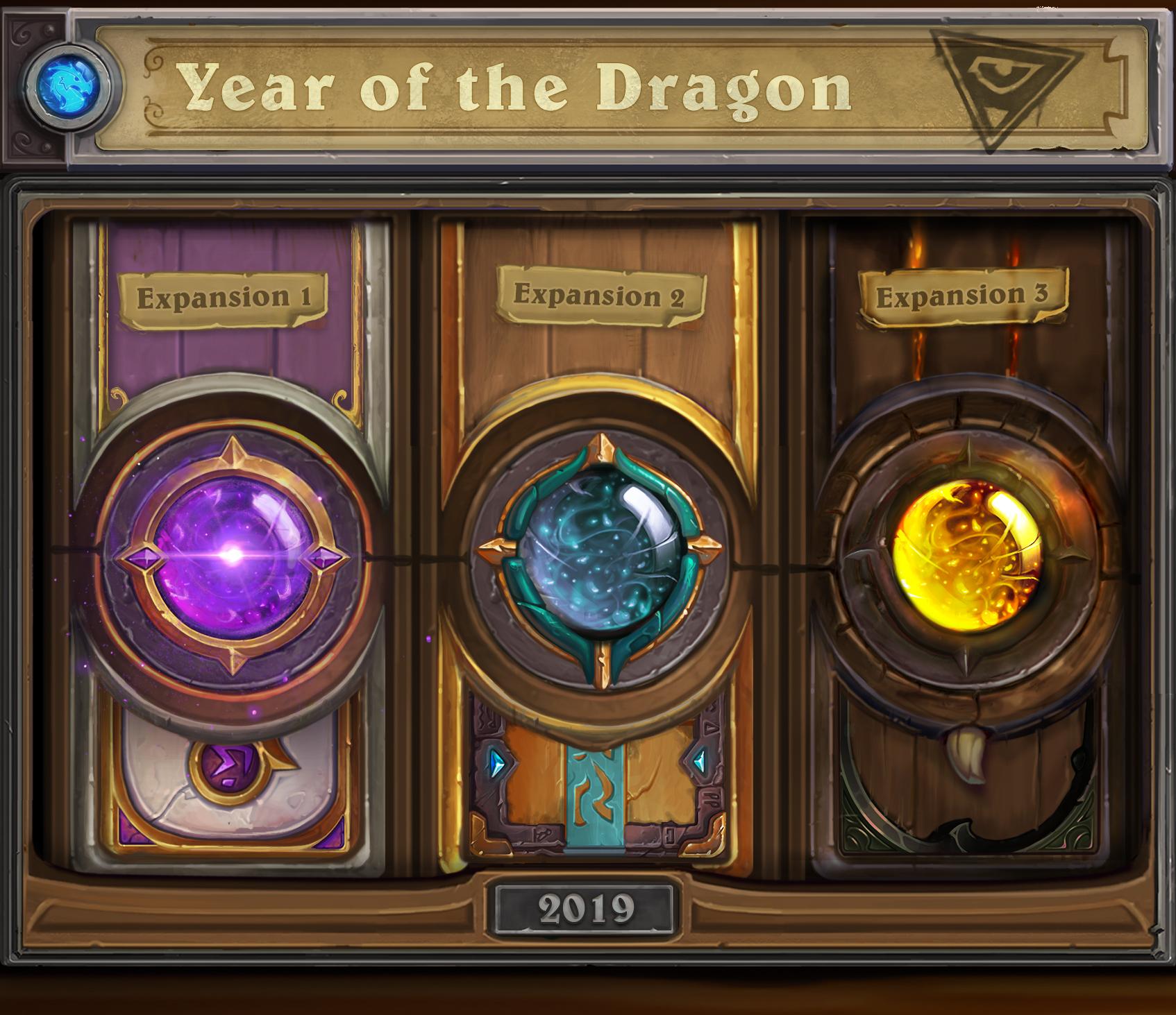 Les trois extensions de l'année du Dragon sont liées par un arc narratif