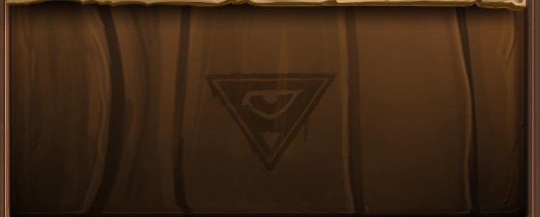 Symbole en forme de triangle avec un œil