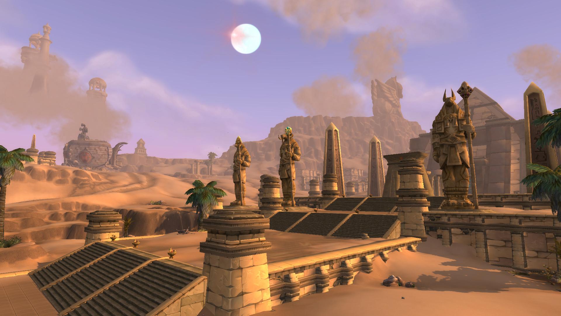 Le désert d'Uldum dans World of Warcraft