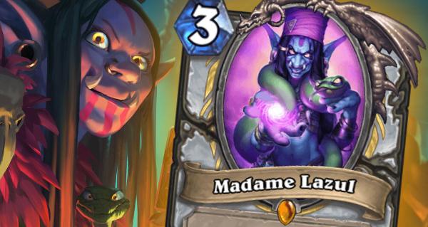 madame lazul : la carte legendaire pour pretre de l'eveil des ombres