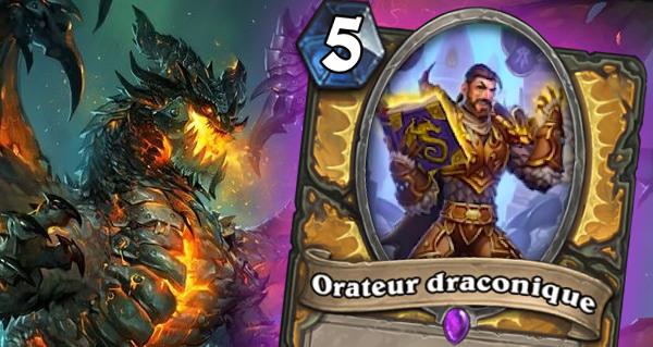 eveil des ombres : porte-parole dragon carte epique pour paladin