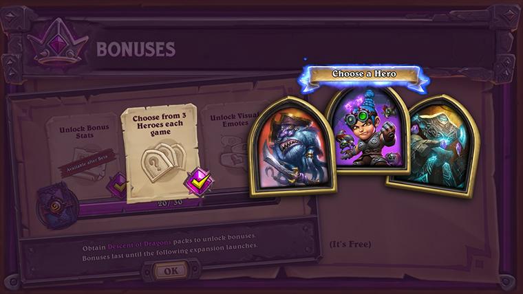 Bonus 2 : Choix de héros