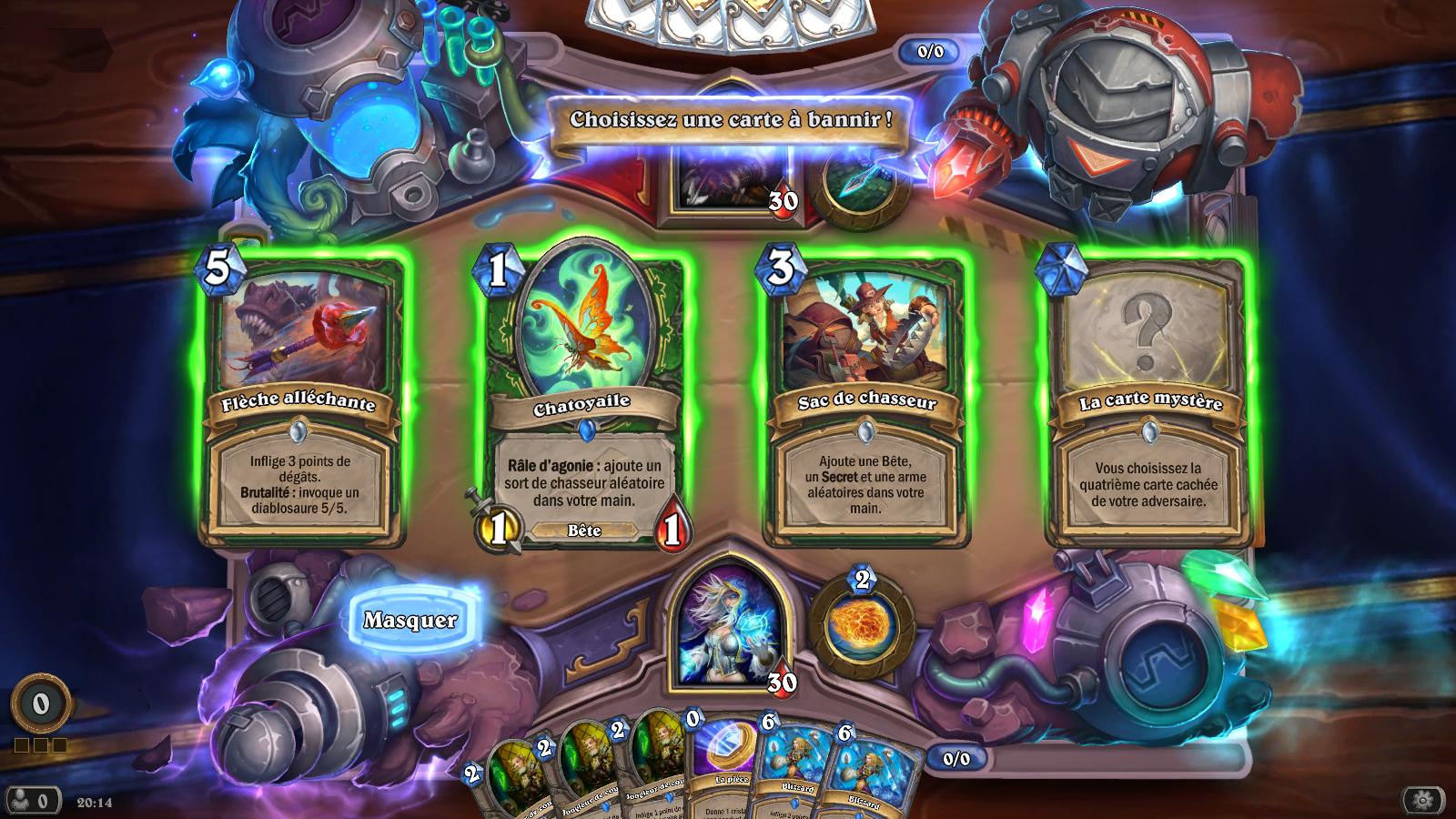 Bannissez une carte de votre adversaire au début de la partie