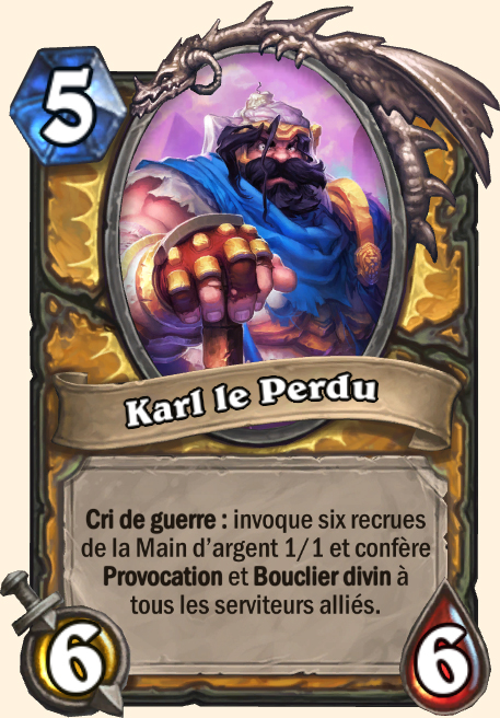 Karl Perdu - Hearthstone Tombes de la Terreur