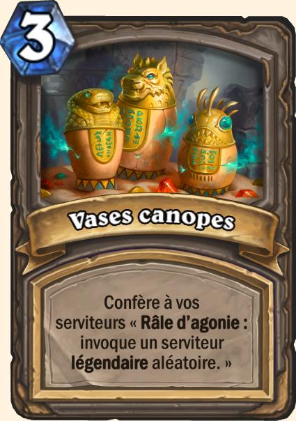 Vases canopes - Hearthstone Tombes de la Terreur