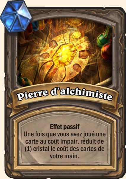 Pierre d'alchimiste - Hearthstone Tombes de la Terreur