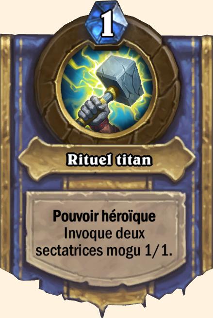 Pouvoir héroïque Rituel titan