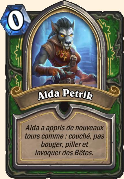 Boss Alda Petrik - Hearthstone Tombes de la Terreur