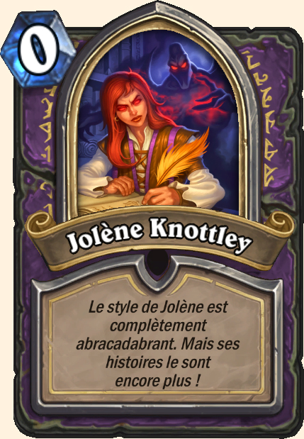 Boss Jolène Knottley - Hearthstone Tombes de la Terreur