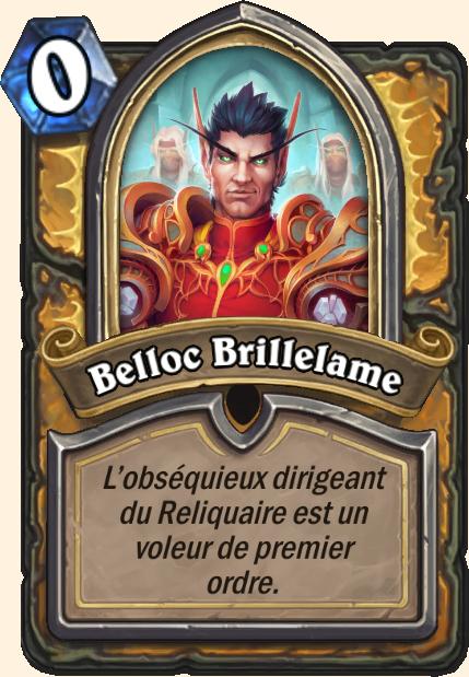 Boss Belloc Brillelame - Hearthstone Tombes de la Terreur