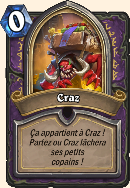 Boss Craz - Hearthstone Tombes de la Terreur
