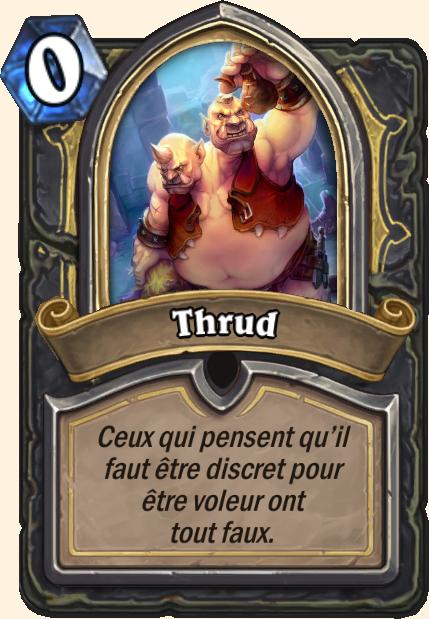Boss Thrud - Hearthstone Tombes de la Terreur