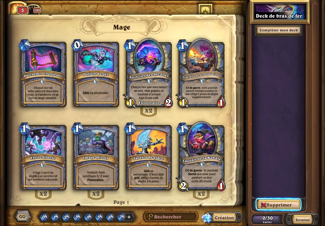 Composez un deck avec uniquement des cartes de base communes et rares