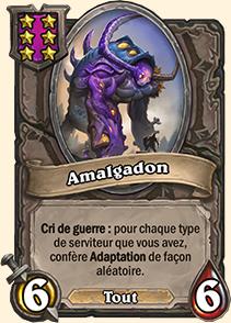 Dos de carte Hearthstone - Amalgadon