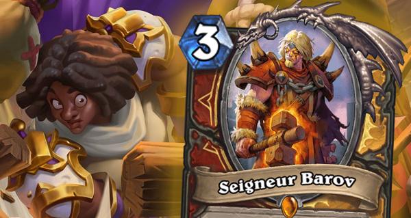 seigneur barov : carte legendaire double-classe guerrier paladin