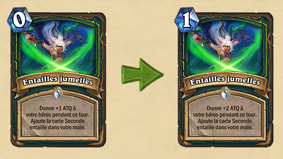 Modification Hearthstone : Entailles Jumelles