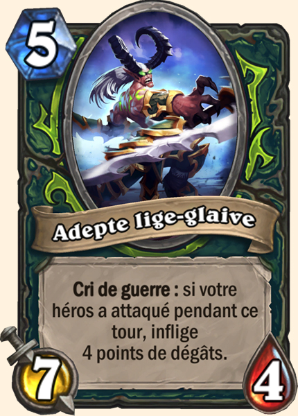 Hearthstone Carte Chasseur de demons - Adepte Lige glaive