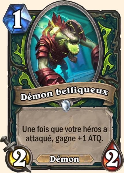 Hearthstone Carte Chasseur de demons - Démon belliqueux