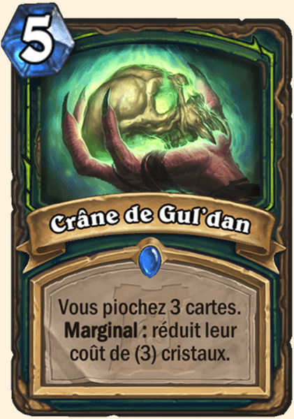 Hearthstone Carte Chasseur de demons -  Crâne de Gul'dan