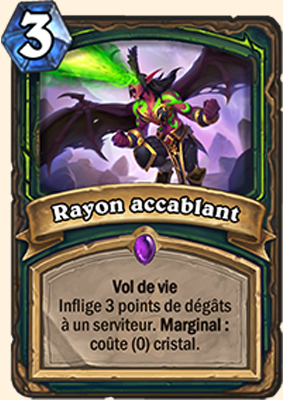 Hearthstone Carte Chasseur de demons -  Rayon accablant