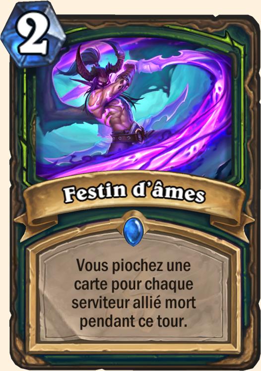 Hearthstone Carte Chasseur de demons -  Festin d'âmes
