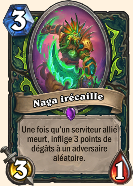 Hearthstone Carte Chasseur de demons - Naga irécaille