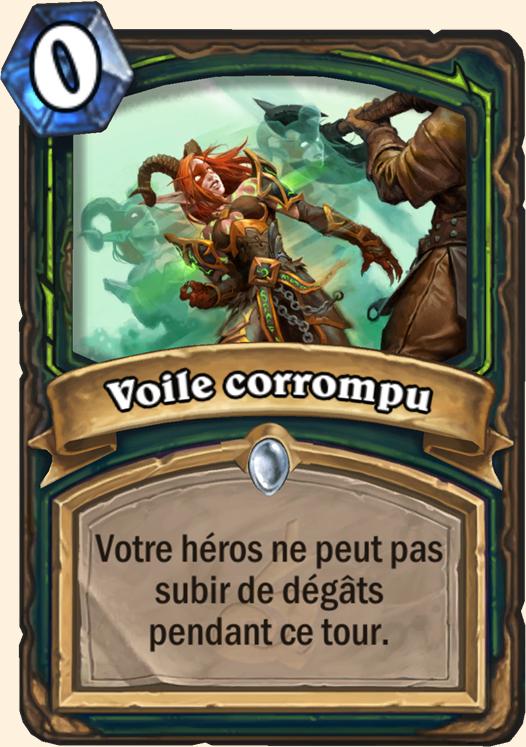 Hearthstone Carte Chasseur de demons - Voile corrompu
