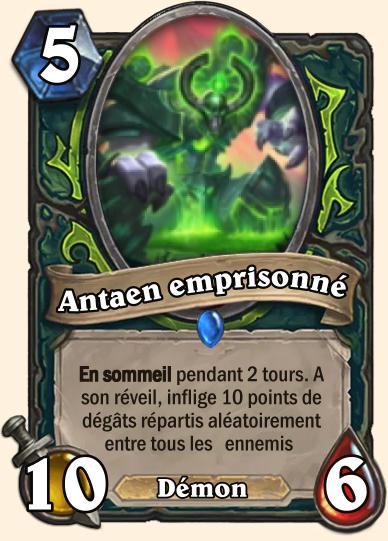 Hearthstone Carte Chasseur de demons - Antean emprisonné