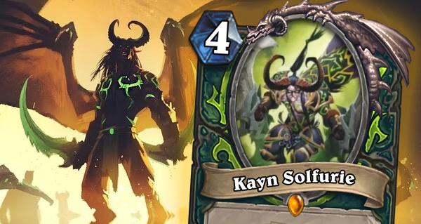 kayn solfurie : nouvelle carte legendaire pour chasseur de demons