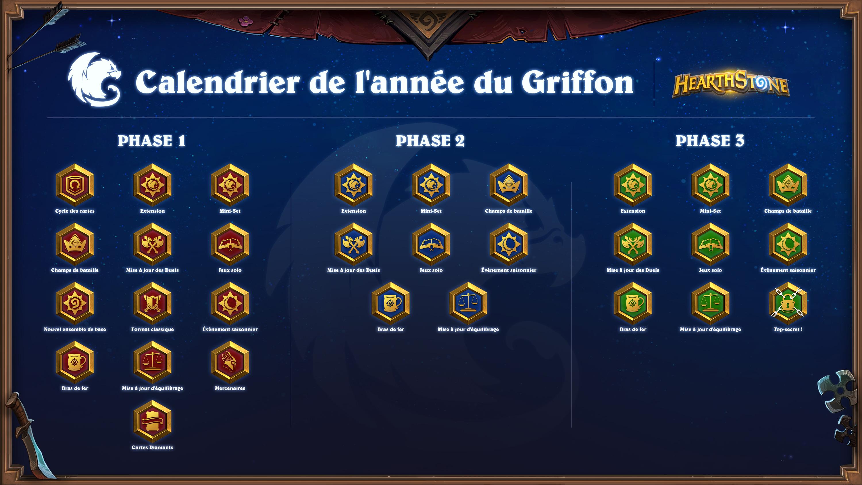 Calendrier de l'année du Griffon pour Hearthstone