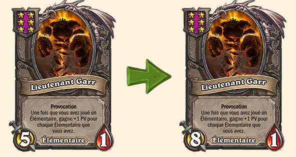 Hearthstone (20.0.2) : Équilibrage pour Lieutenant Garr